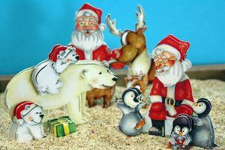 Santa and Animals Close up sm