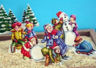 Kids and Snowballs Closeup sm