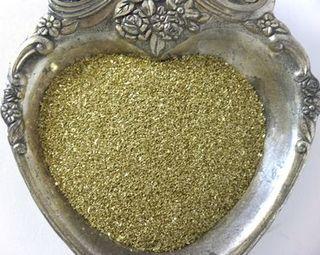 Glassglittergoldclose