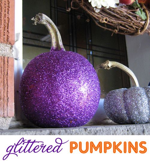 How-to-make-glitter-pumpkins