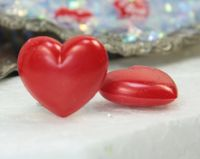 Large Red Flatback Hearts - 203-3-118 - 06
