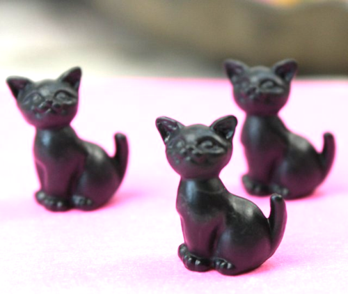 Happy Cats - Black - Set of 6 - 203-3-212-BK - 03