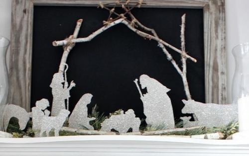 Silhouette Nativity Straight On1