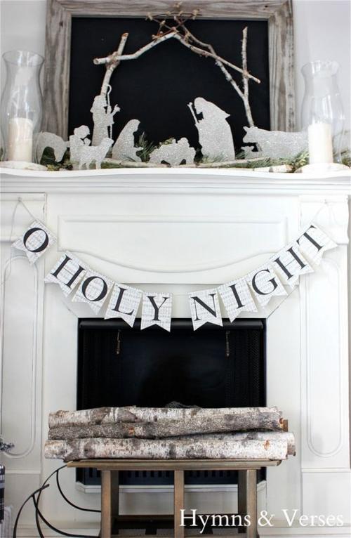 Silhouette Nativity Straight On